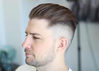 Kiểu tóc undercut ngắn vuốt ngược