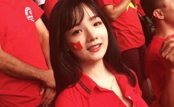 Ngắm nhan sắc hot girl Việt cổ vũ bóng đá gây sốt mạng xã hội Hàn Quốc