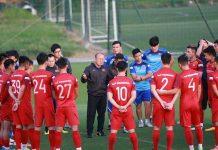 Tuyển Việt Nam tập bài cải thiện tranh chấpchờ đấu với Thái Lan