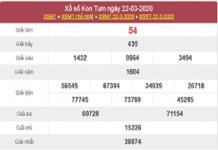 Nhận định kết quả xổ số Kon Tum ngày 29/03/2020 tỷ lệ trúng cao