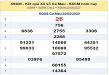 Soi cầu KQXSCM- Xổ số cà mau thứ 2 ngày 01/06/2020
