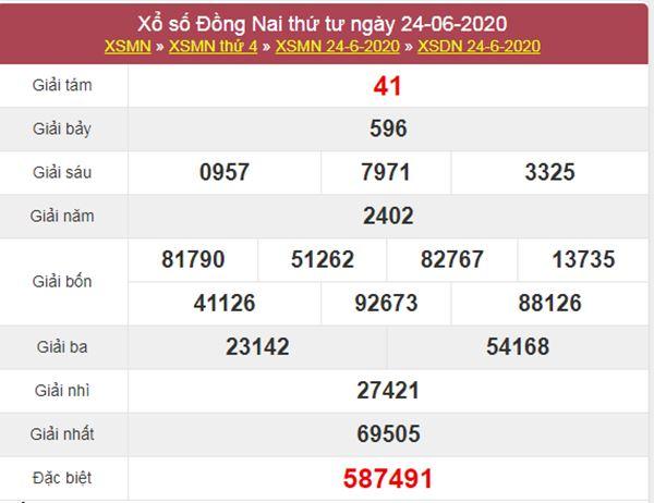 Dự đoán XSDNA 1/7/2020 chốt KQXS Đồng Nai thứ 4
