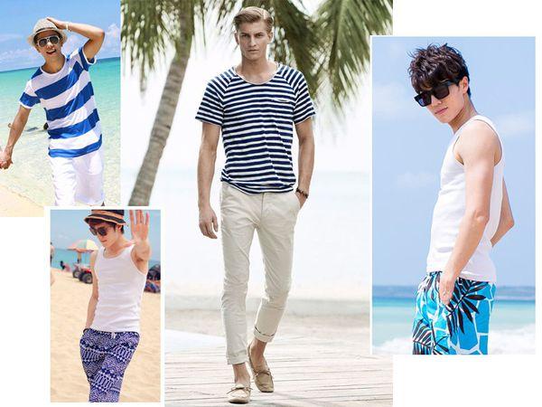 Thời trang nam mùa hè với giày lười