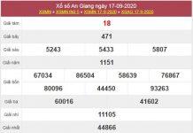 Thống kê XSAG 24/9/2020 chốt số đẹp An Giang thứ 5