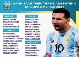 Tin bóng đá trưa 11/6: ĐT Argentina chốt danh sách dự Copa America