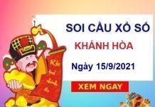Soi cầu xổ số Khánh Hòa ngày 15/9/2021
