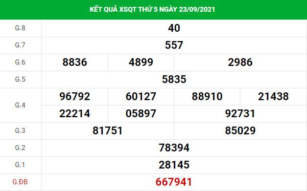 Soi cầu dự đoán xổ số Quảng Trị 30/9/2021 chuẩn xác
